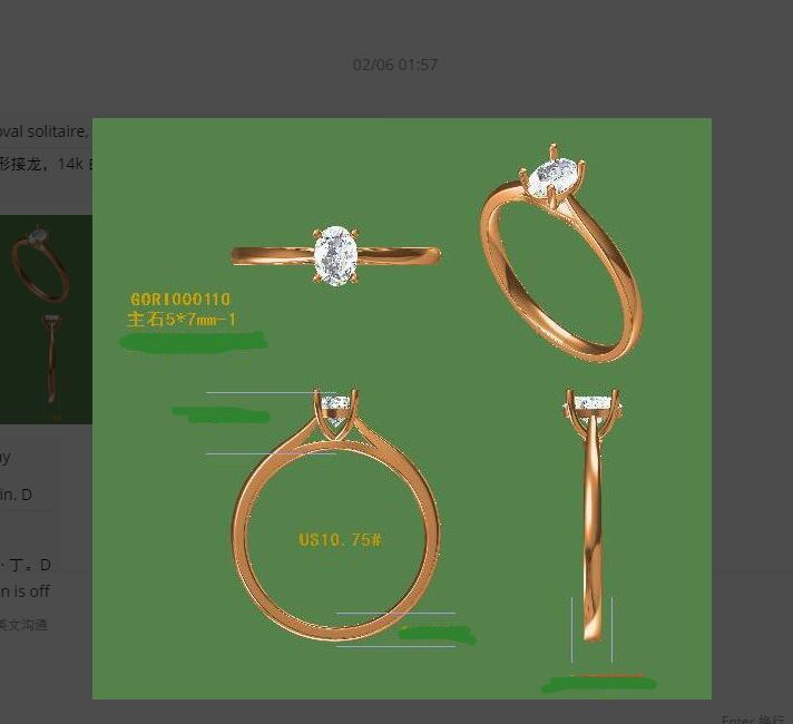 Moissanite Verlobungsring 7x9mm 2.00CT Carat Oval Cut Solide 14 Karat Rotgold Ring mit Akzenten Für frauen-in Ringe aus Schmuck und Accessoires bei  Gruppe 1