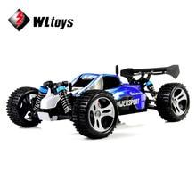 Wltoys A959 2.4 Г Радио Пульт Дистанционного Управления RC Автомобиль Щеткой Мотор Kid Игрушка Модель Масштаб 1:18 Ударопрочный Резиновые колеса Багги высокоскоростной
