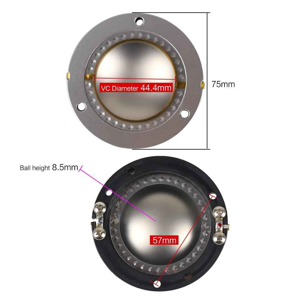 medium resolution of ghxamp flat wires titanium film 44 4mm voice coil horn tweeter diaphragm 44 core 8ohm speaker repair accessories driver diy 2pcs in speaker accessories from