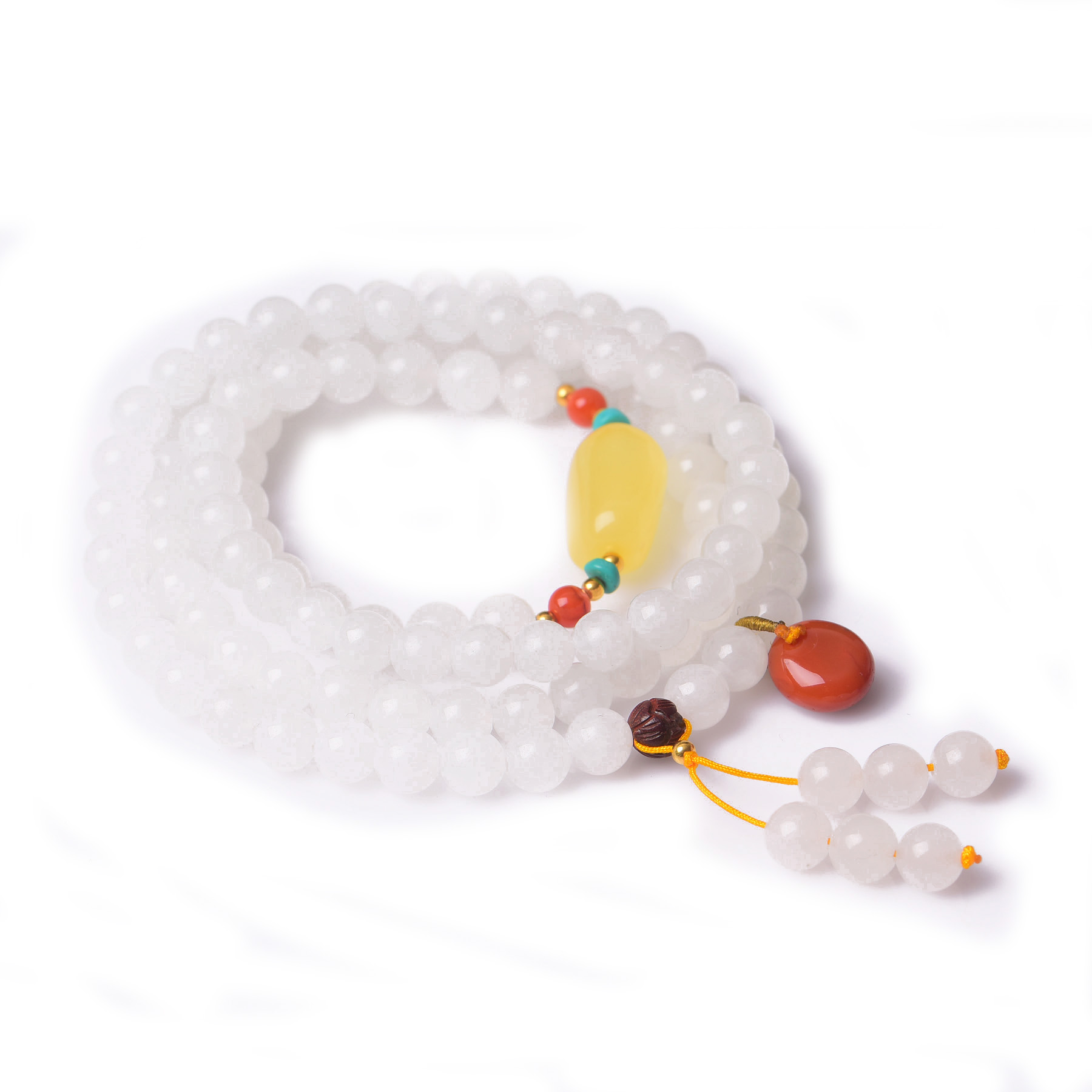 Handmade Authentic Hetian Crystal Beads Bracelets 6.8mm handmade authentic hetian crystal budda bracelets