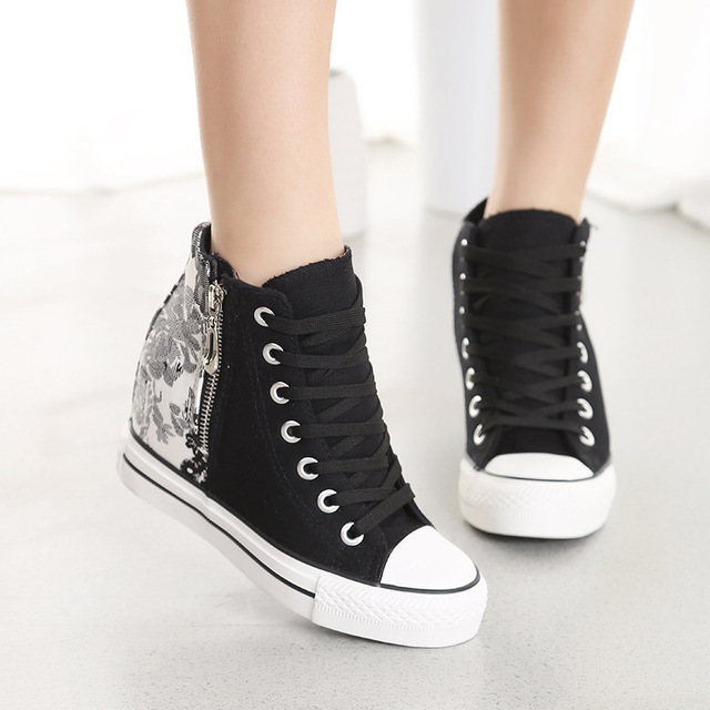 2017 Spring Summer Woman Brand Casual Shoes Female Canvas Shoes Chinese STyle Lace Up tenis feminino Student Shoes For Lady Z666