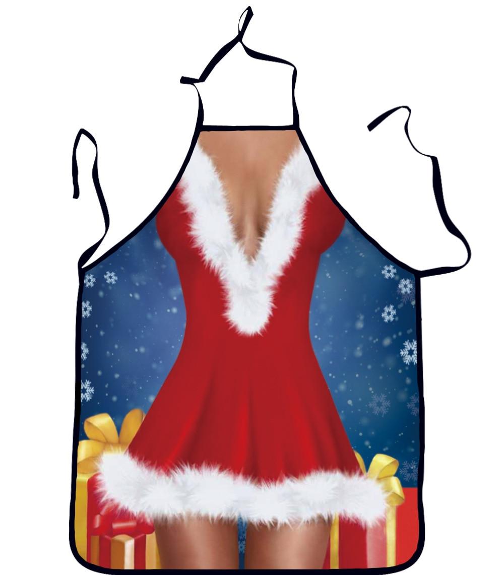 Funny personality aprons sexy woman christmas apron print