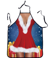 Funny Personality Aprons Sexy Woman Christmas Apron Print Christmas Ornament Funny Gift Apron Delantal De