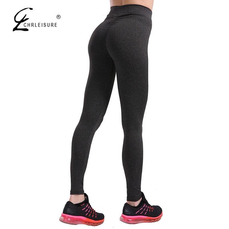 CHRLEISURE Activewear Push Up Фитнес леггинсы Для женщин Фитнес Высокая талия эластичные Леггинсы Спортивная Для женщин брюки 7 цветов