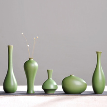 Vintage Home Decor Ceramic Flower Vases For Homes Classic Vase Antique Traditional Chinese green Bottles crafts