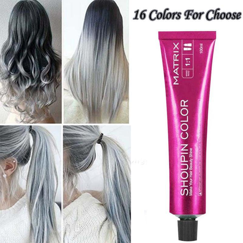 15 Colors Hair Dye Wax Pomade 100ml Hair Color Styling Cream Molding Paste Silver Gray Long Lasting Hair Dye Y3