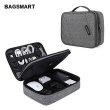 BAGSMART Travel Electronics Accessories Bag Double Layer Organizer Storage Bag f
