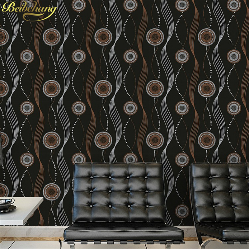 beibehang Modern Black circle curve papel de parede 3D wallpaper for Living room bedroom wall paper roll Luxury home decoration beibehang papel de parede 3d wallpaper for walls modern for bathroom home decoration plaid 3d mural plain paper wall paper roll