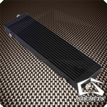 Oil-Cooler Universal Plate And 1PCS Large-Bar Cross-Flow X1.58--Core Black/silver Single