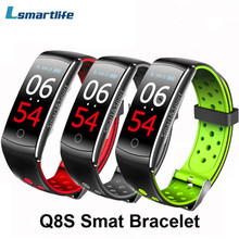 Smart Bracelet Q8S Wristband Color IPS Screen Heart Rate Fitness Tracker Sport Band Wearable Devices Smart Watch for Android IOS