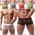 1 pc Men's Sexy  Boxers Shorts Transparent Mesh  Underwear Sexy Men's   Clothing Trunks Intimate Accessories