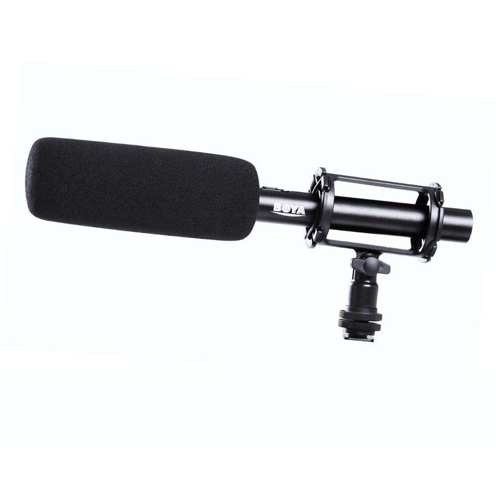 BOYA PAR PVM1000 BY-PVM1000 Condenseur Shotgun Vidéo/entrevue Microphone pour Canon Nikon Sony DSLR Caméra avec Pare-Brise Libre