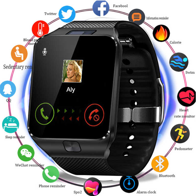 New Fashion Smart Watch Bluetooth Smartwatch With Sim TF Card Solt Passometer Wrist Watch For Android IOS Smart Phones Watch Men