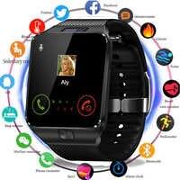 Nouveau mode montre intelligente Bluetooth Smartwatch avec carte Sim TF Solt passomètre montre-bracelet pour Android IOS téléphones intelligents montre hommes