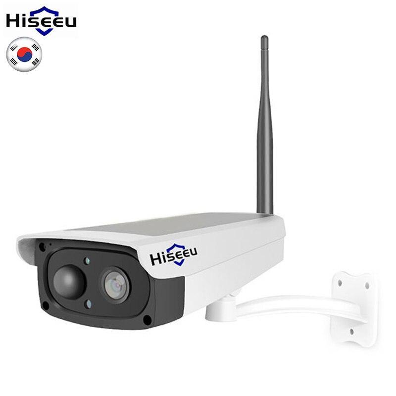 Hiseeu panneau solaire charge caméra vidéo surveillance batterie Rechargeable 1080P Full HD extérieur intérieur sécurité WiFi IP caméra