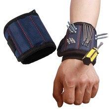 Полиэфирный магнитный браслет, Портативная сумка для инструментов, электрик, ремень для запястья, шурупы, гвозди, сверла, держатель, инструменты для ремонта