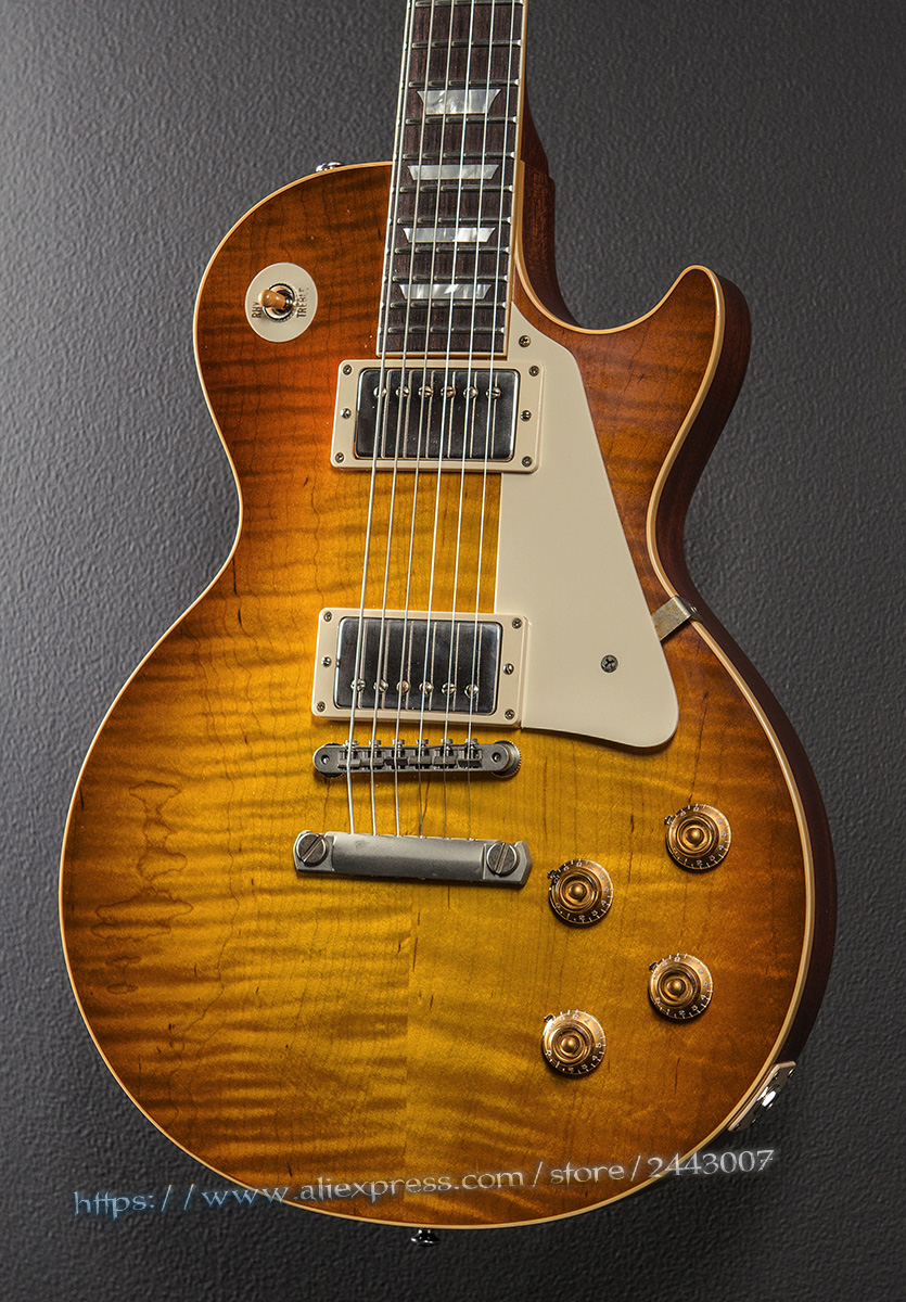 GC Custom Shop Standard Historic Mark Knopfler 1958 VOS Sunburst Electric Guitar gc custom shop masterbuilt eric johnson relic electric guitar 2 color sunburst