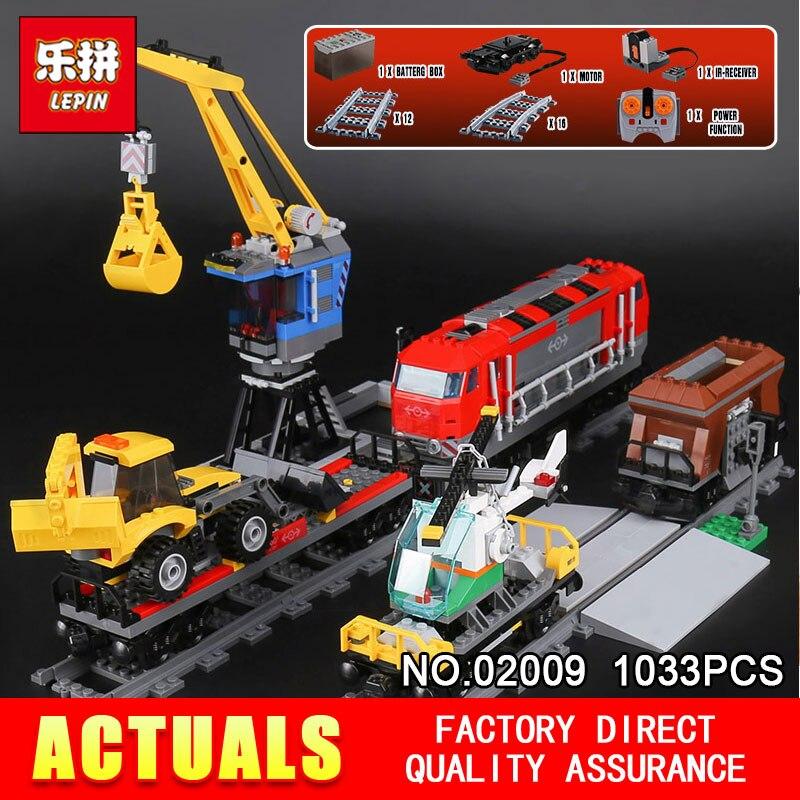 Educativos 02009 genuino 1033 piezas de la serie pesado camión tren 60098 bloques de construcción ladrillos juguetes educativos como regalo de Navidad