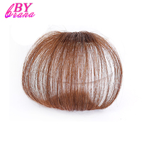 Brazilian Human Hair Human Clip In Hair Extensions Two Styles Free Short Straight Remy Hair Bangs