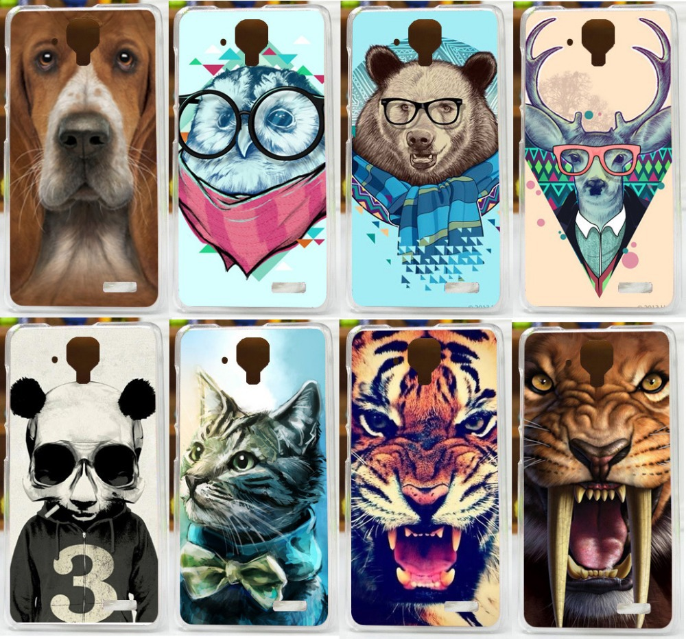 new cool animal patterns painted colored tiger lion case for lenovo a536 a358t mobile phone bag. Black Bedroom Furniture Sets. Home Design Ideas