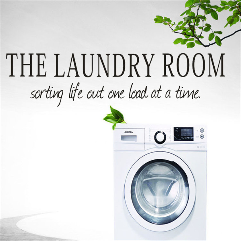 Wallpaper Sticker the laundry room Quote Removable Decal Room Wall Sticker Vinyl Art Home Decor Wallpapers For Living Room B#
