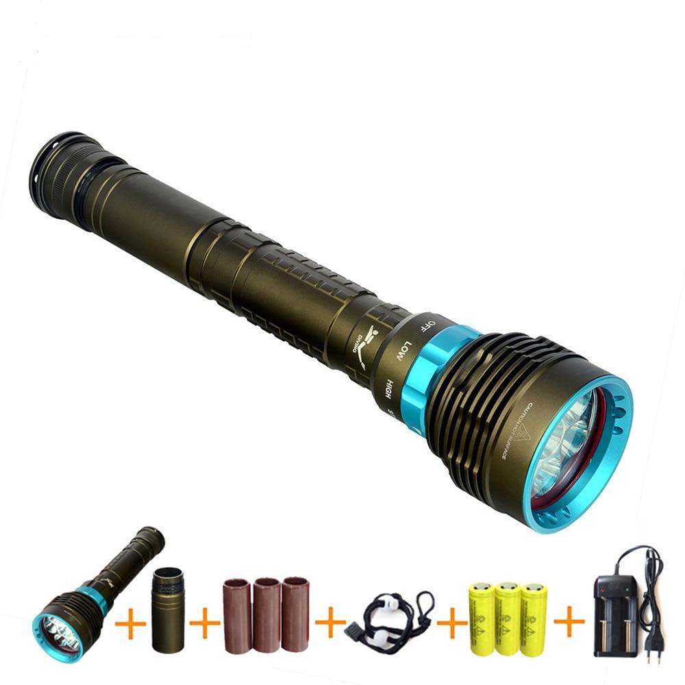 ФОТО New LED Diving flashlight 7 x XML T6/L2 1000lm/14000LM LED Flashlight linternas Underwater 50M Waterproof Lamp Torch