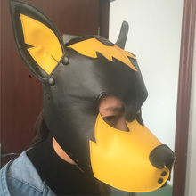 Imitation Leather Sexy Toy Puppy Play Dog Cosplay Mask  Fetish Sex Hood Pet Role Accessories