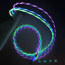 NEW Led USB Cable Flash Light Up Data Line Mobile phone Charger for iPhone Cable data cable for Xiaomi Android Type-C 1M Cable new usb data cable for topcon es os 602 sokkia cx fx series total stations