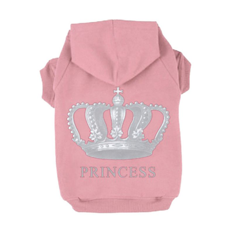 Trajes Princesa Princesa Corona Impreso Pet Dog Sweater Dog Hoodies - Productos animales - foto 2