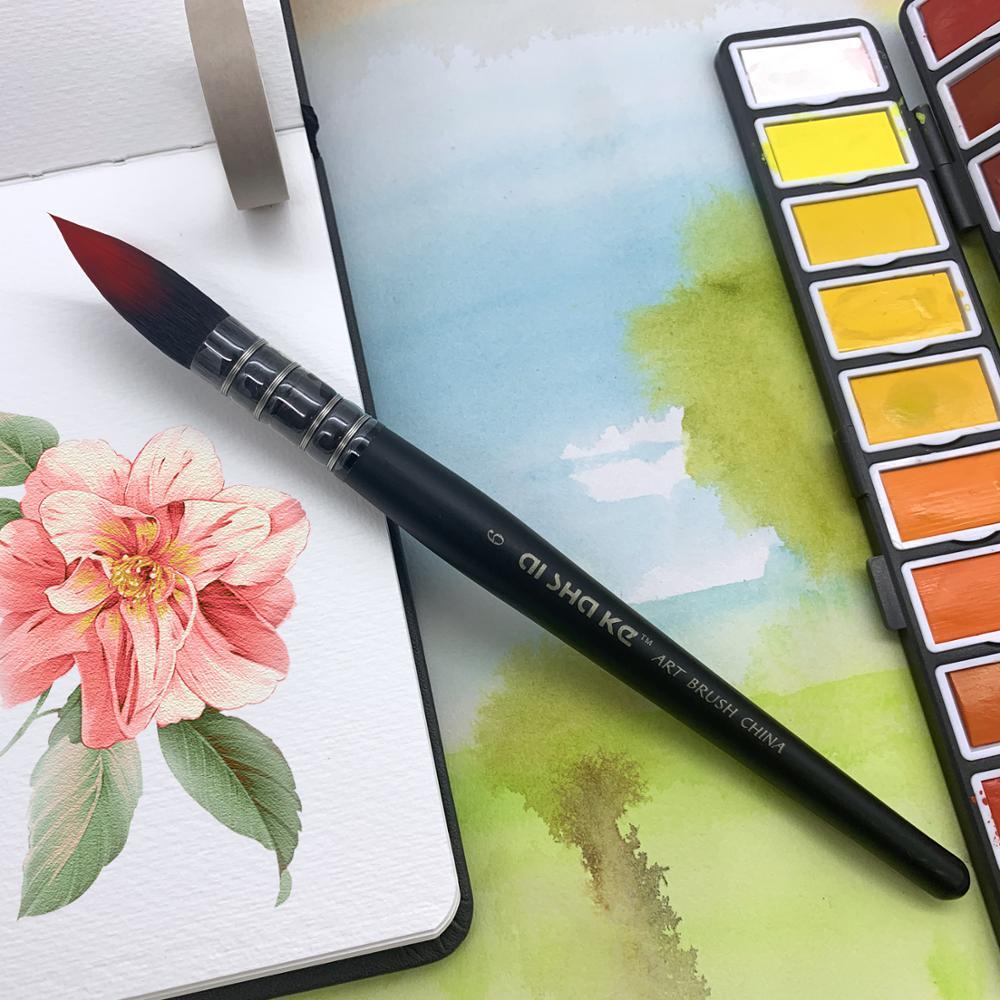 Кисти для рисования по дереву, кисти для рисования акварелью, рисование гуашью, художественные принадлежности, 1 шт. 5