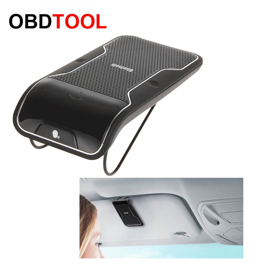 Manos Libres Inalambrico Para Coche Kit Inalámbrico Bluetooth Manos Libres Para Coche Speakerphone Parasol Clip 10 M De Distancia Para Teléfonos Inteligentes Iphone Con Cargador De