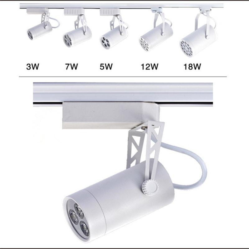 Track Lighting Vs Rail Lighting: LED Track Light 3W Indoor Lighting Rail Lamps Spotlight