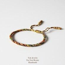 TALE Design 2016 Multi Color Tibetan Buddhist Handmade Knots Lucky Rope Bracelet Size Adjustable Same Model As Leonardo DiCaprio