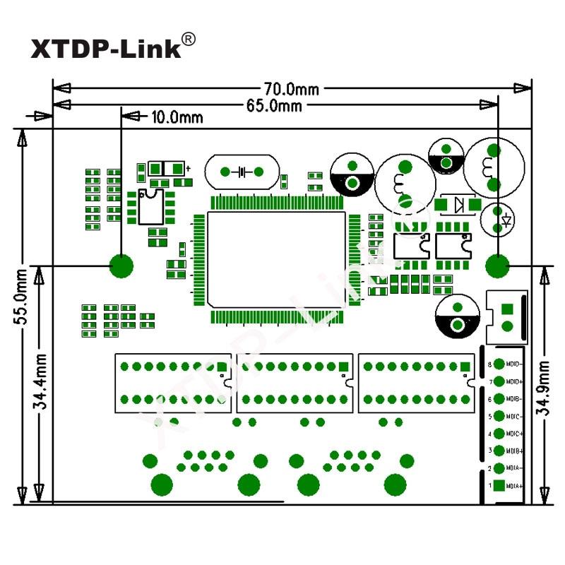 Promosi baru Gigabit Ethernet Beralih 2 Port RJ45 dengan 8 pin way - Peralatan jaringan - Foto 6