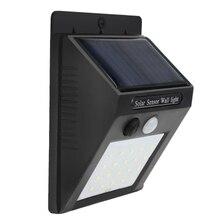 Датчик солнечный светильник s Открытый, супер яркий 20 светодиодный беспроводной водонепроницаемый Солнечный настенный внешний светильник ing, солнечный светильник безопасности