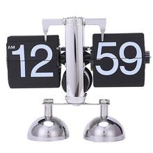 Vintage Retro Flip Clock Scale Modern Digital Auto Page Turning Dual Stand Flip Clocks Home Decor Desk Table Quartz Clock обложка page auto praline esse обложка page auto praline