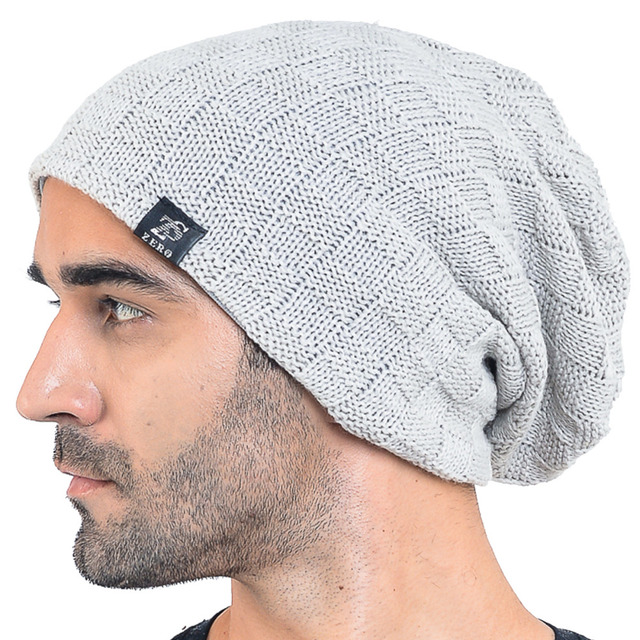 HISSHE Vintage Mens Winter Beanie Cap Slouchy Knit Beanie Hat For Men Long  Skullies Soft Warm Outdoor Ski Hat cf5c5b8c8c5