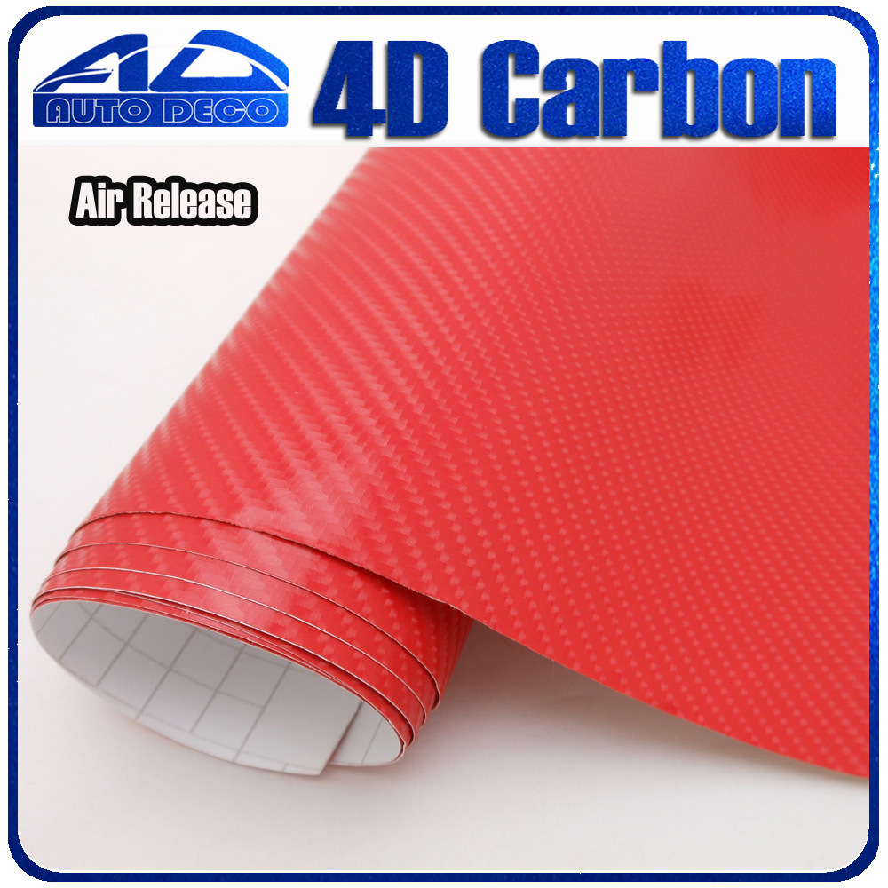 Air Bubble Free Red Carbon Fiber Vinyl Wrap For Car Styling Sticker Foil FedEx Free Shipping Size:1.52*30m/roll free shipping 2016 new style transparency waterpoof uv proof car styling sticker koala cowra nici