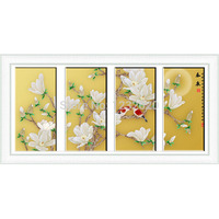 TB Factory Direct New DIY Needlework Diamond Paintings The Living Room Decoration Magnolia Flowers Series