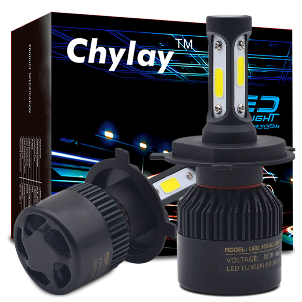 Un Ensemble H7 Led H4 H1 H3 H11 H13 9005 9006 9007 881 LED De Voiture Phares 72 W 8000LM Automobile Tête Lampe Brouillard Ampoule 6500 k