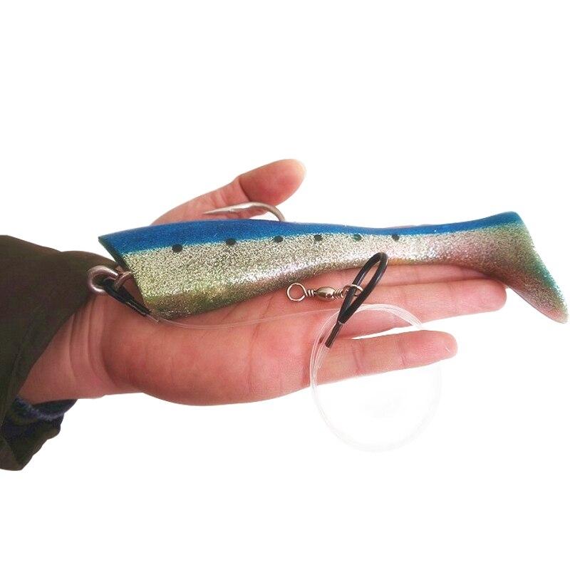 UCOK 1pcs/pack big artificial soft fish 65g-95g trolling lure bait deep sea tuna drag flying fish big game large lure sea bait