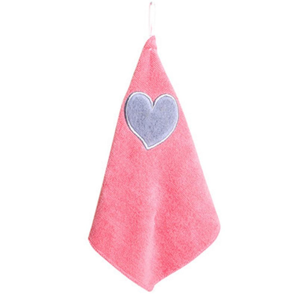 Children Nursery Hand Towel Soft Plush Bow Hanging Wipe Bathing Kitchen Towels
