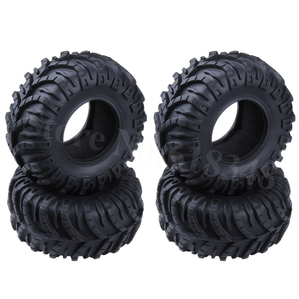 4PCS Rubber 115 mm <font><b>2.2</b></font> Inch <font><b>RC</b></font> <font><b>Crawler</b></font> <font><b>Tires</b></font> With Foam Inserts ID: 60 mm Width: 58 mm For 1/10 Rock <font><b>Crawler</b></font> <font><b>RC</b></font> Car Tyres image