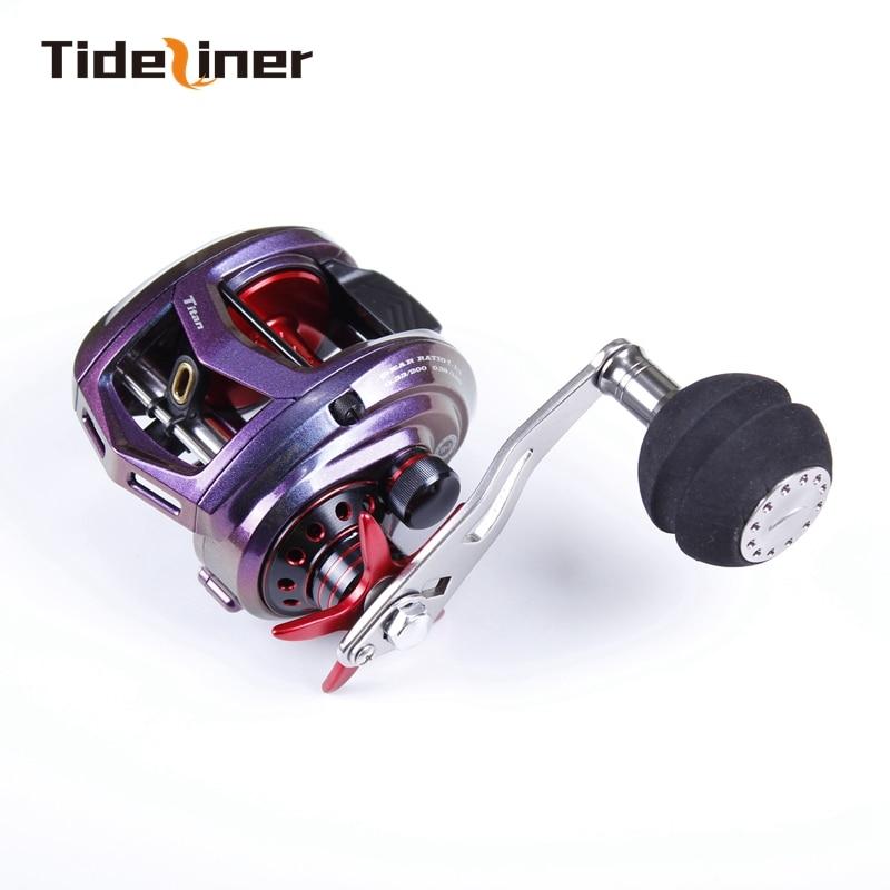 Tideliner casting fishing Reel slow jigging reels Left Right Hand Saltwater wheels max drag power 12kg