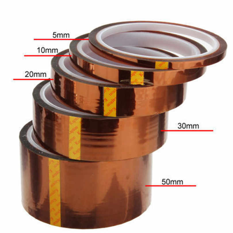 5/10/20/30/50mm X 90 ft Tape BGA High Temperature Heat Resistant Polyimide High Quality For Led Bulb Driver cinta adhesiva JJ20