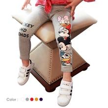 Girls Minnie Leggings 2019 Spring Cartoon Donald Duck Kids Pants Elastic Waist Children Baby Girl Casual 3-7Years