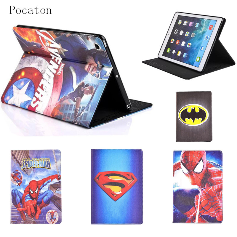 №Pocaton para IPad mini 2 Spider-Man Superman Capitán América los ...