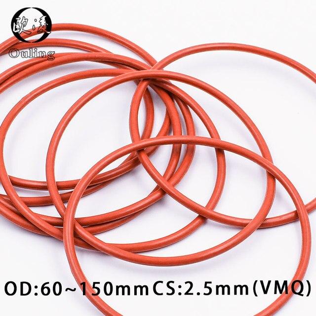 diam/ètre ext/érieur 23 mm Choisissez la taille du paquet 1 Joints toriques en caoutchouc de silicone VMQ 18 mm x 2,5 mm Red Duret/é Shore 55A