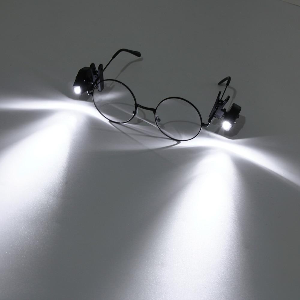 3c0da60b1ef 1PC Flexible Book Reading Night Light White Lighting For Eyeglass Glasses  Tools Mini LED Lamp Clip