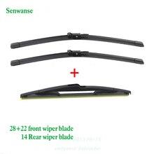 """Senwanse передние и задние щетки стеклоочистителя для Vauxhall/Opel Zafira B 2005-2011 стеклоочиститель 2""""+ 22""""+ 14"""""""